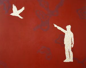 1.Under the red lit sky, 2009, 122cmx152.5cm, oil on canvas.