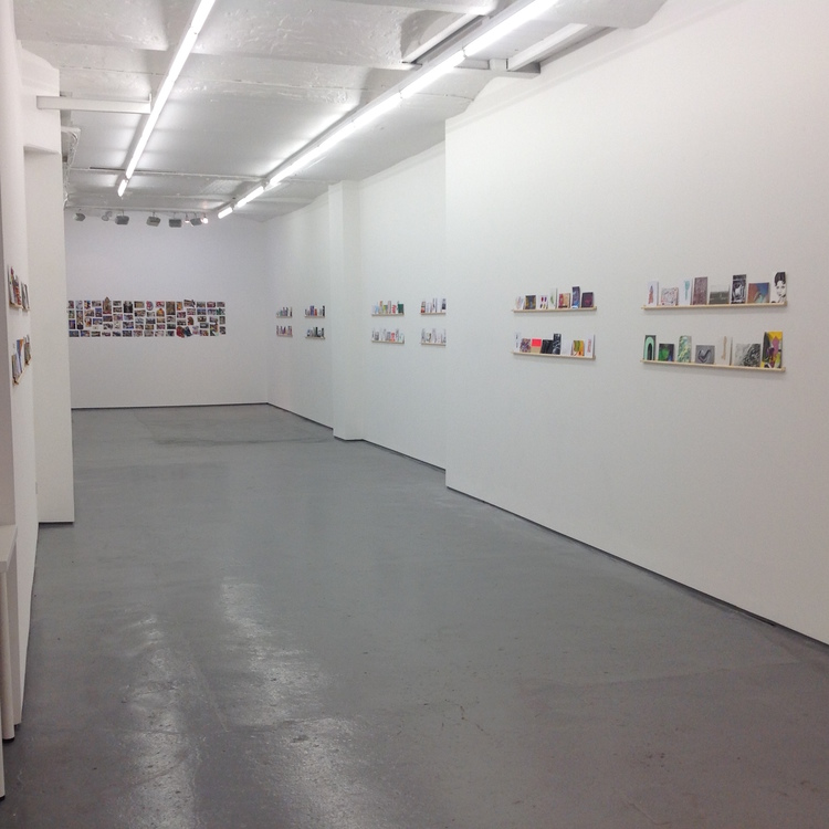 Fold gallery postcard show install view