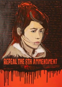 'Repeal the 8th Ammendment' painting by Lisa O'Donnell
