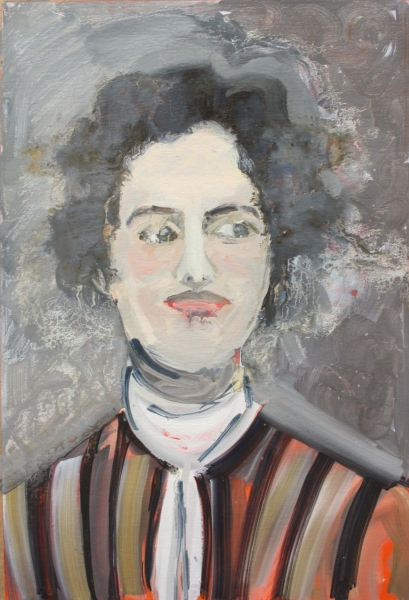 Lilian Bland, oil on card, 42cm x 30cm, 2019