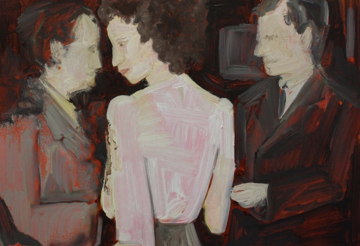 Kay McNulty - 1946, oil on card, 30cm x 42cm, 2019
