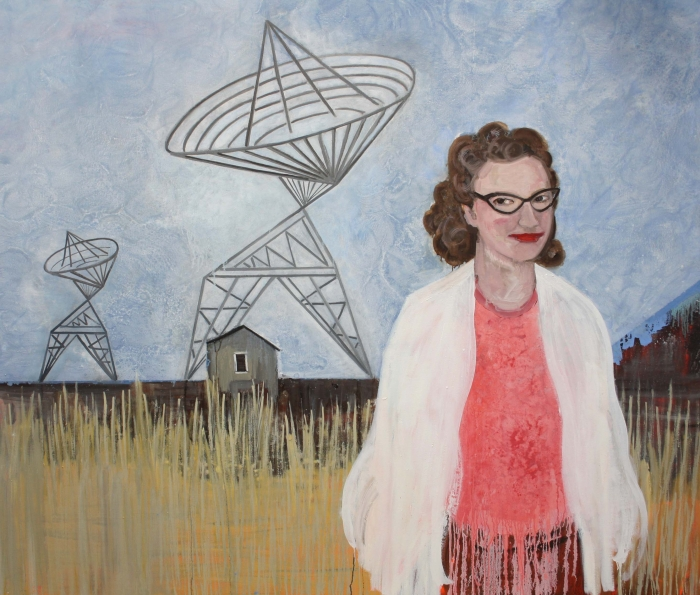 Jocelyn Bell Burnell - 1974, oil on canvas, 170cm x 200cm, 2020