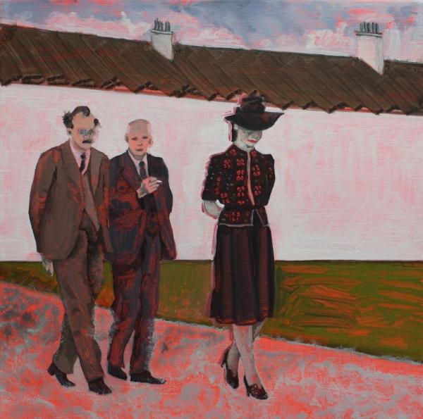 Sheila Tinney (née Power) - 1942, oil on linen, 40cm x 40cm, 2020